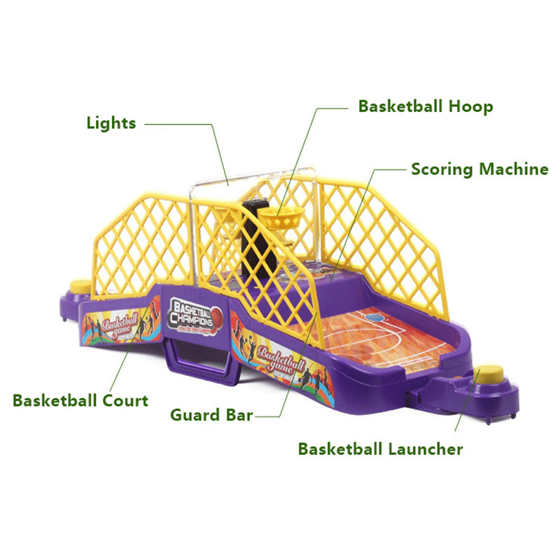 Creative Desktop Games Interaction Toys Educatif Sport Learning finger Shoot Basketball Stands with Music Sound Machine