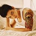 5 Unids Body Art Maquillaje de Belleza Rosa Sexy Peligrosas Cráneo 3D Impermeables Pegatinas de Tatuaje Temporal Para Hombres Mujeres Manga Del Tatuaje