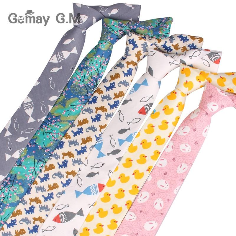 2017 New mens casual fashion TIE COTTON 6cm cartoon tie factory direct spot