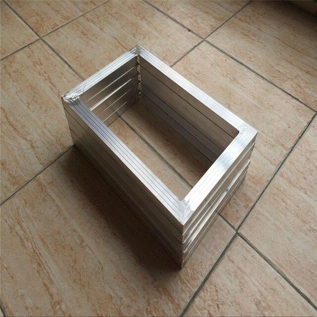 outer size:20x 30cm 5 pcs silk screen printing aluminum screen frame ...