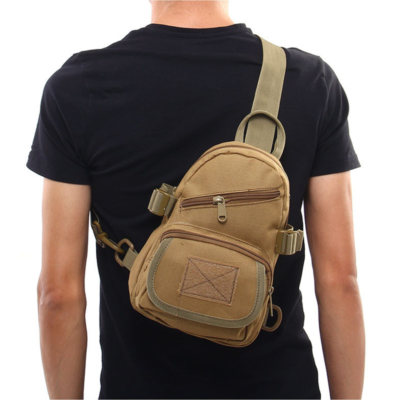 Cqc Tactical Cross Body Backpack Outdoor Military Army Chest Pack Messenger Shoulder Bag Hunting Camping Hiking Climbing Bags Camping & Hiking