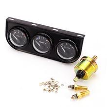 52MM 12V Triple Kit Oil Temp Water Temperature Pressure Gauge Meter with Sensor for Car