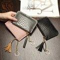 Mini wallet women purse cow Leather serpentine small wallets carteras mujer female short slim zipper coin bag carteira feminino