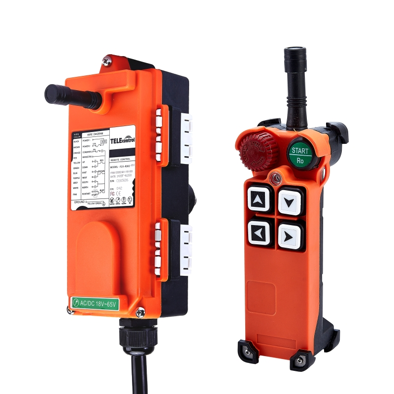 F21-4S(include 1 transmitter and 1 receiver)4 Channels1 Speed Hoist Industrial Wireless Crane Radio Remote Control Uting remote f21 4s include 2 transmitter and 1 receiver 4 channels1 speed hoist industrial wireless crane radio remote control uting remote