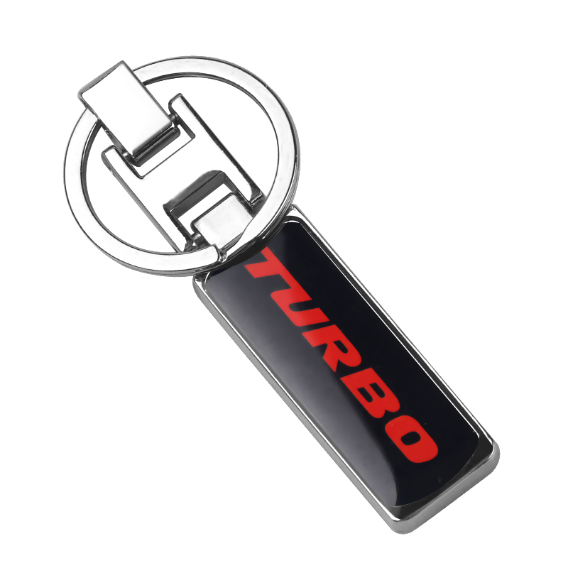 3D Car Styling Metal Keychain TURBO For <font><b>Ford</b></font> Focus 2 3 <font><b>ST</b></font> RS Fiesta Mondeo Tuga Ecosport car <font><b>Keyring</b></font> Fusion Accessories image