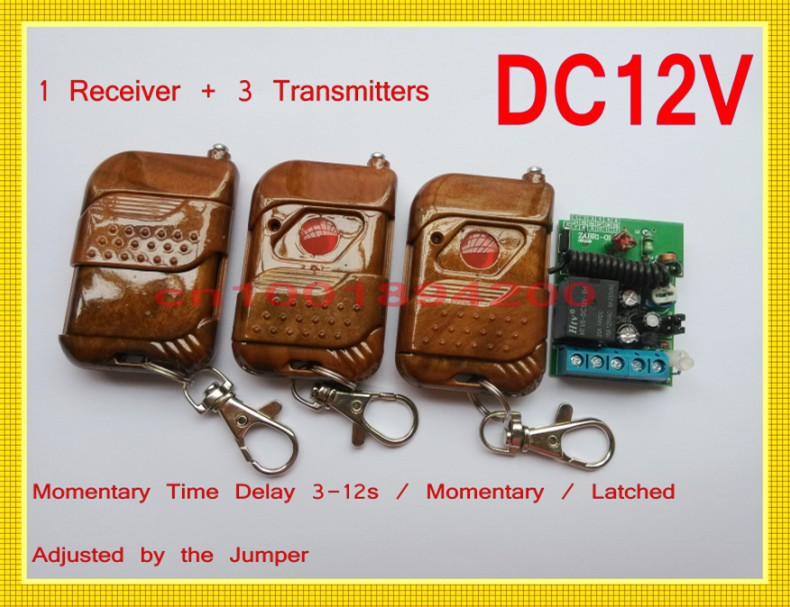 Door Access/Entery Guard Gateway  Remote Control Switch DC12V Time Delay Relay Switch 3-12S Adjusted Press ON Release delay OFF dc 12v led display digital delay timer control switch module plc automation new