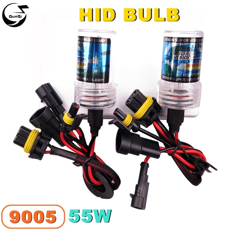 New 9005 55W 12V Car Styling HID Xenon Bulb Headlight Lamp Auto Motorcycle Light Source 3000K-12000K For VW BMW Replacement  new 1set hb3 9005 12v 65w 3000 3500k amber yellow car halogen xenon headlight light bulb lamp with retail box bengear dropship