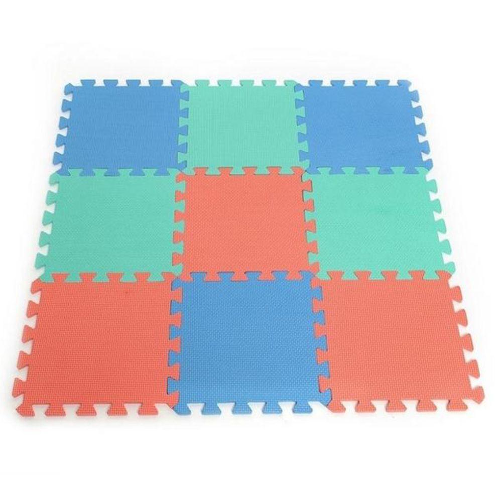 9pcsset Interlocking Puzzle Foam Floor Mat Gym Thick Squares Area