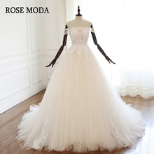 Rose Moda Luxury Lace Wedding Dress 2019 Ball Gown Crystal