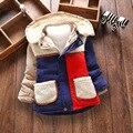 Niños abrigo de invierno patch kids espesar lindo ropa de terciopelo para niños chaqueta de tapa desmontable para bebé niños de 1 años-4