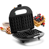 Electric Waffles Maker Electric Sandwich Iron Machine Bubble Egg Cake Oven Breakfast Machine Sonifer Fast Delicious Safety