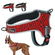 Odblaskowe szelki dla psa regulowane nylonowe szelki siatkowane dla zwierząt kamizelki artykuły dla zwierząt średnie duże psy Walking Training