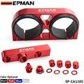Танский - EPMAN заготовки алюминий ассамблеи твин двойной двойной 044 топливный насос на выходе коллектора с монтажный кронштейн красный EP-CA120S