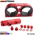 TANSKY - EPMAN Billet Aluminium Assembly Twin Dual Double 044 fuel pump Outlet manifold with mounting bracket RED EP-CA120S