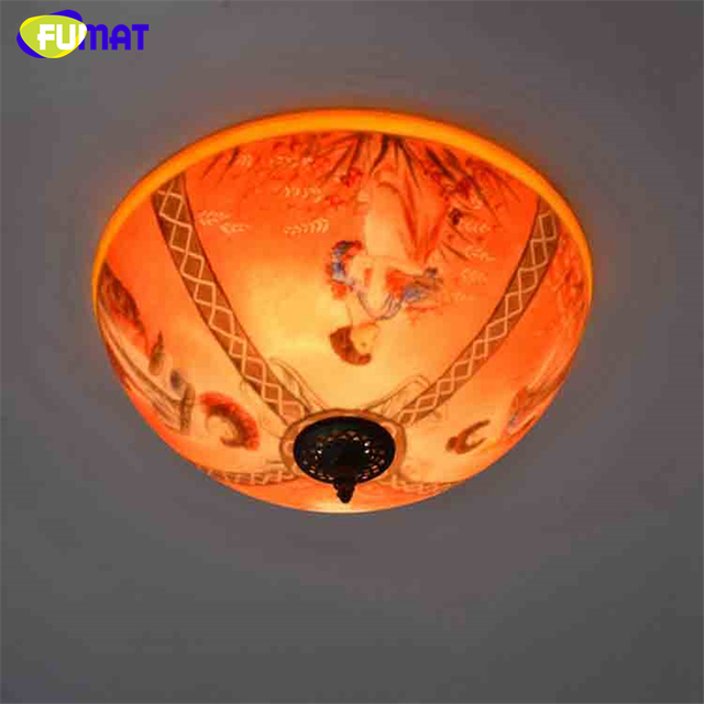 Fumat french pastoral creative ceiling lamp living room bed room oil fumat french pastoral creative ceiling lamp living room bed room oil painting art glass lights characters aloadofball Image collections