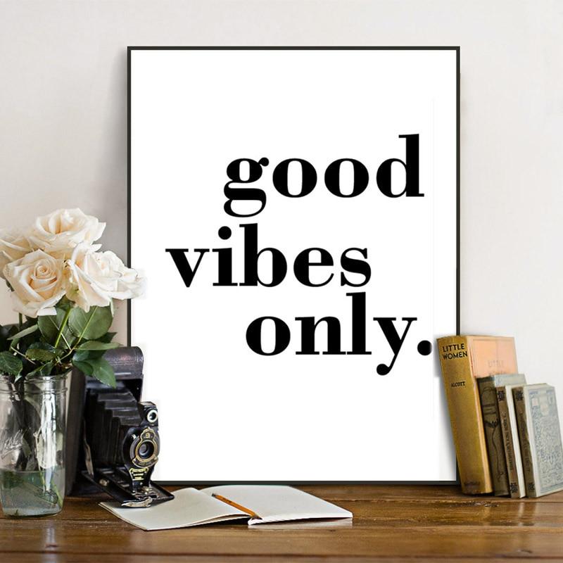 Nordic Minimalist Typography Positive Life Quotes Good ...