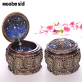 Bronze Zodiac 12 Signs Music Box Retro 12 Constellation Musical Boxes Sun God Gift Box for Girls Valentine's Day Birthday Gifts