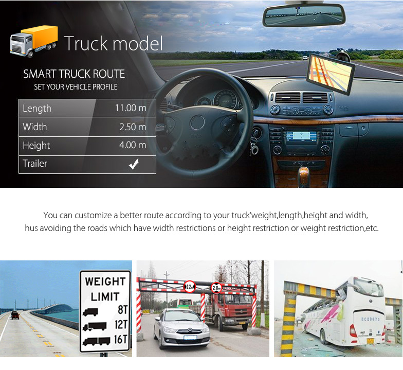 XGODY 505F 5'' GPS Navigation Car Truck Navigator SAT NAV
