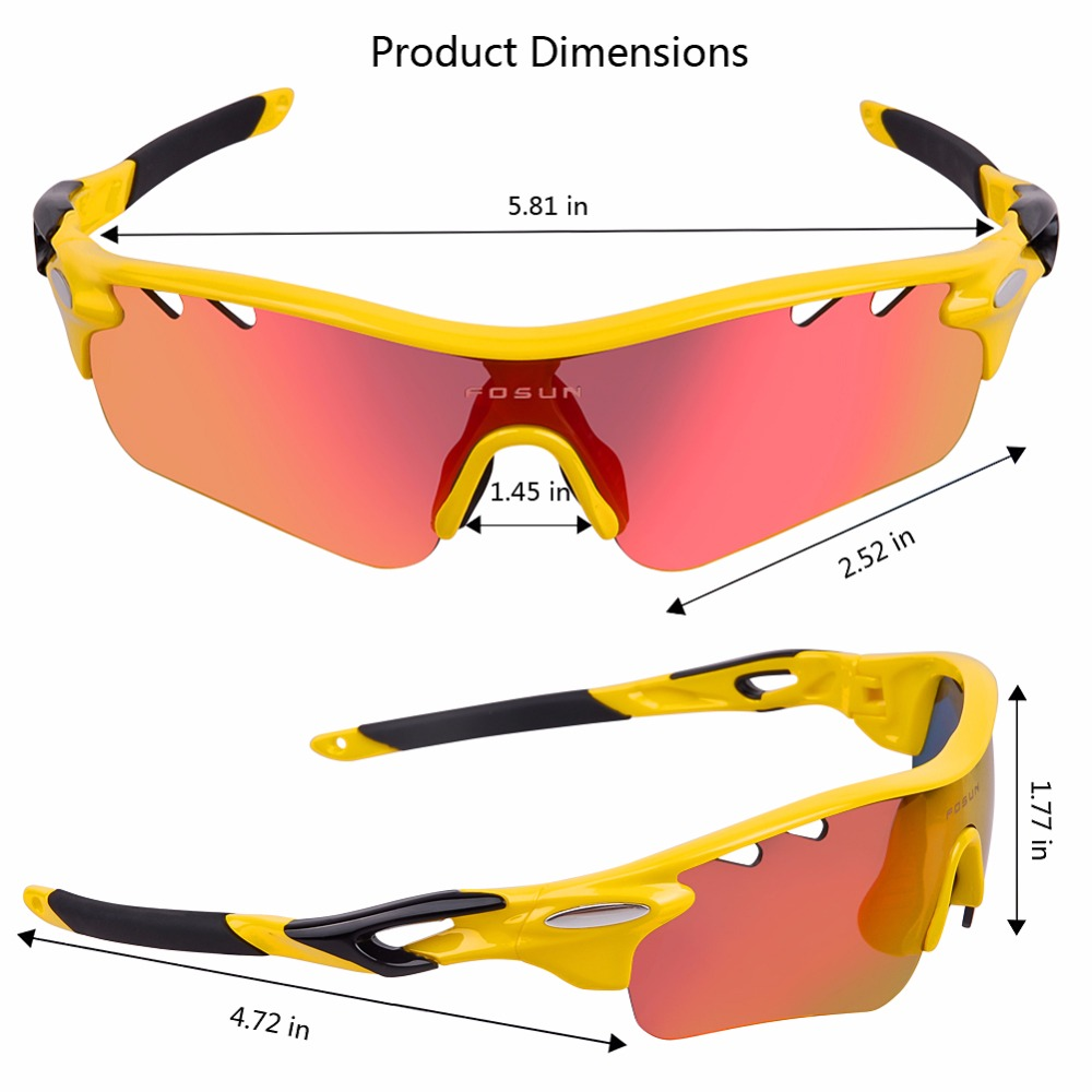 Polarized Tactical Sunglasses cycling eyewear Myopia Frame Hunting Glasses Sports Bicycle Sunglasses Goggles 5 pair of Lenses 8004 hodgson brand new designed anti fog cycling glasses sports eyewear bicycle goggles bike sunglasses with 2 polarized lenses