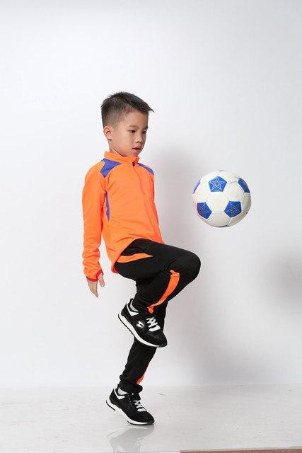 c4d8c2c89 Children Long Sleeve Soccer Uniforms Kids Football Jerseys Zipper Training  Suit Tracksuits Set Soccer Jerseys Shirt + Pants