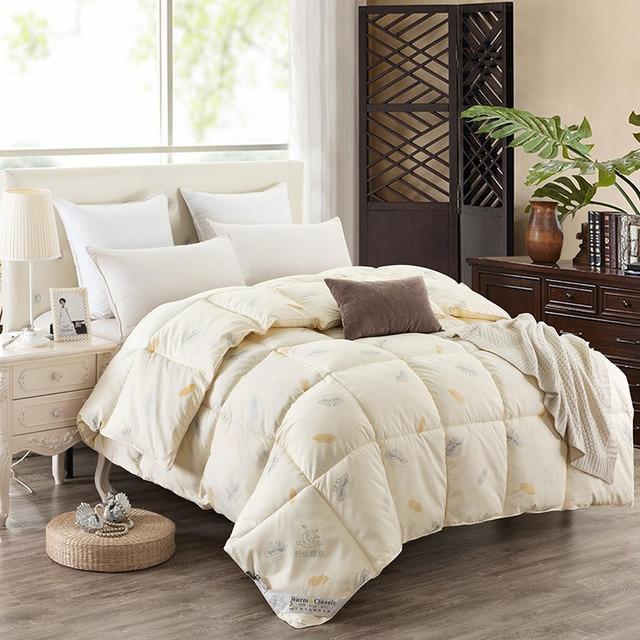 Goose Down Quilt Blanket Duvet for Winter/Summer White Cotton ... : king down quilt - Adamdwight.com