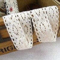 200 Yards Lot 2 3CM 100 Cotton Lace Ribbon Sewing Tape Lace Webbing White Lace Trim