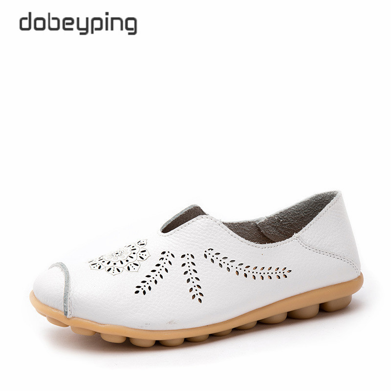 dobeyping New Cut-Outs Shoes Woman Genuine Leather Women Flats Hollow Summer Womens Loafers Female Solid Shoe Large Size 35-44dobeyping New Cut-Outs Shoes Woman Genuine Leather Women Flats Hollow Summer Womens Loafers Female Solid Shoe Large Size 35-44