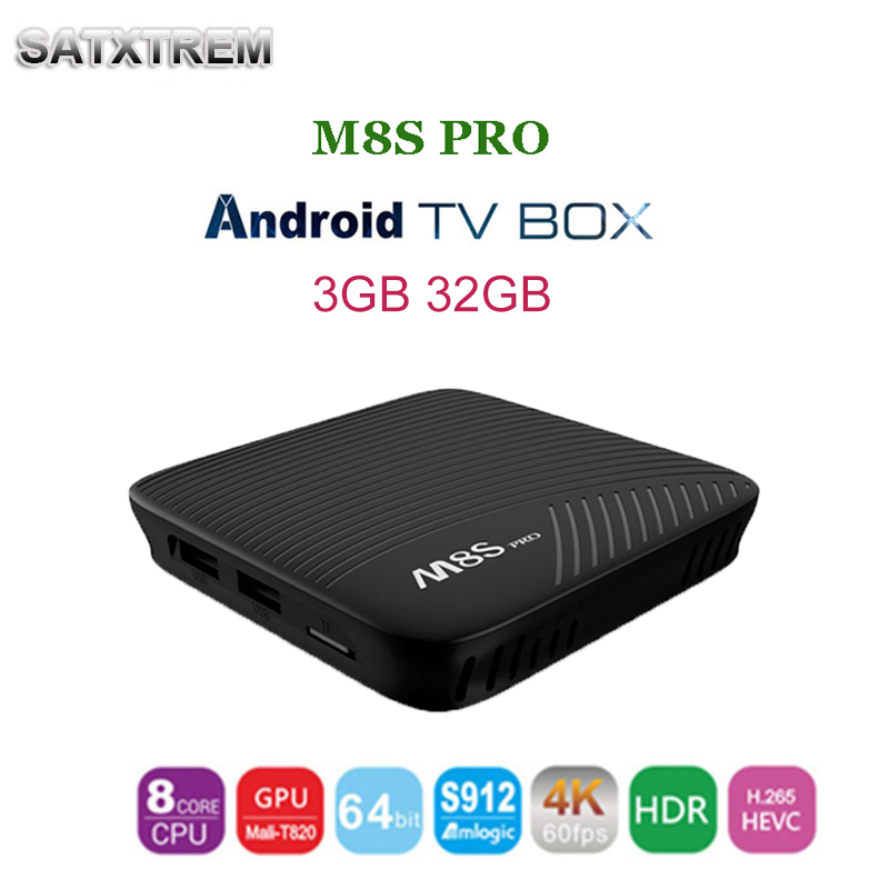 2018 Newest M8S PRO Smart Android 7.1 TV Box Amlogic S912 8 Core CPU media player Wifi 4K H.265 M8Spro Set Top Box pk x96 t6