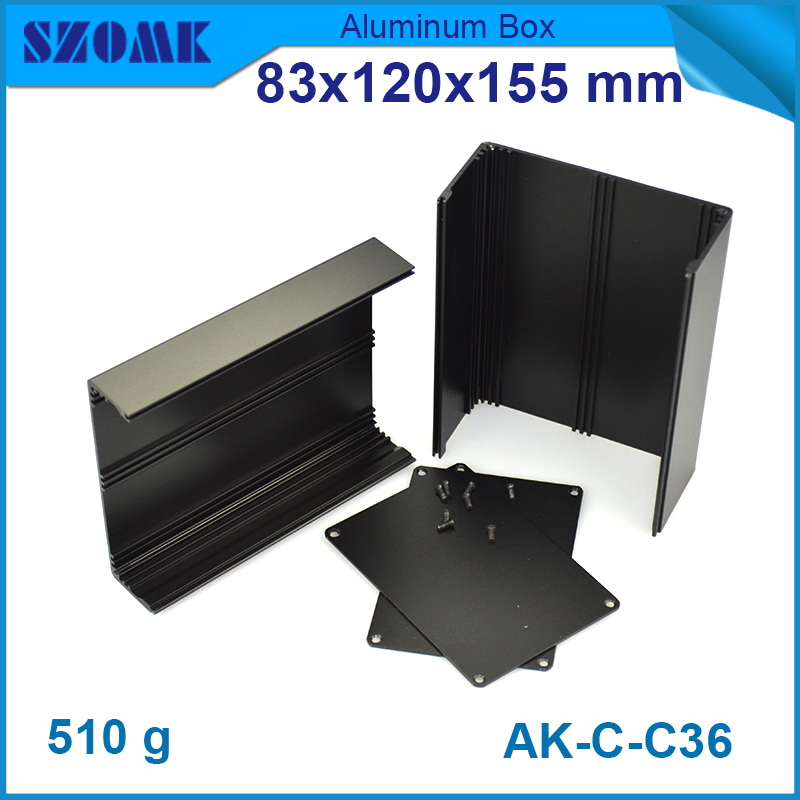 10 pieces Black color small anodizing aluminum housing case for electronics and diy design case box 83(H)x120(W)x155(L) mm 1 piece black diy electrical aluminum enclosure small switch box with anodizing 24x80x90mm