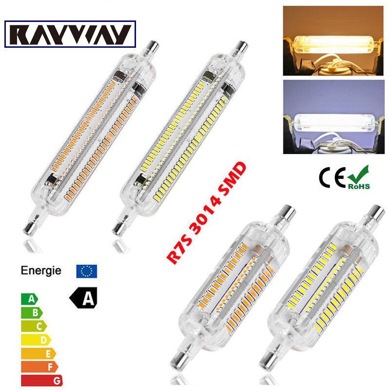 New Silicone r7s LED Lamp 10W 15W SMD3014 78mm 118mm LED R7S Light Bulb 220-240V Energy Saving Replace Halogen Light Lampada Luz high power dimmable 189mm led r7s light 50w cob r7s led lamp with cooling fan replace 500w halogen lamp