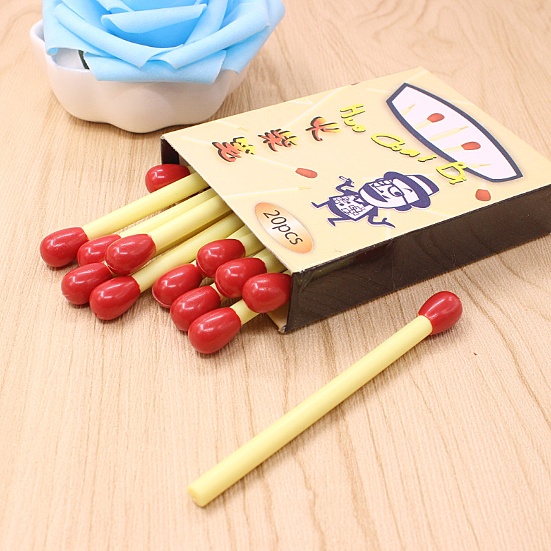 купить 10 PCS/lot Korean Creative Matchstick Ball Pens Office Supplies Match BallPoint Pen Student School Supplies Writing Stationery по цене 59.84 рублей