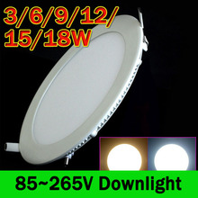 LED Ceiling Recessed Grid Downlight Round Panel Light LED Light Bulb Lamp Down Light 3W 6W 9W 12W 15W 18W