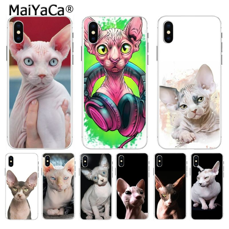 MaiYaCa Tattoo Sphinx Cat Cute Phone Case Cases Back Cover Capa for Apple iPhone