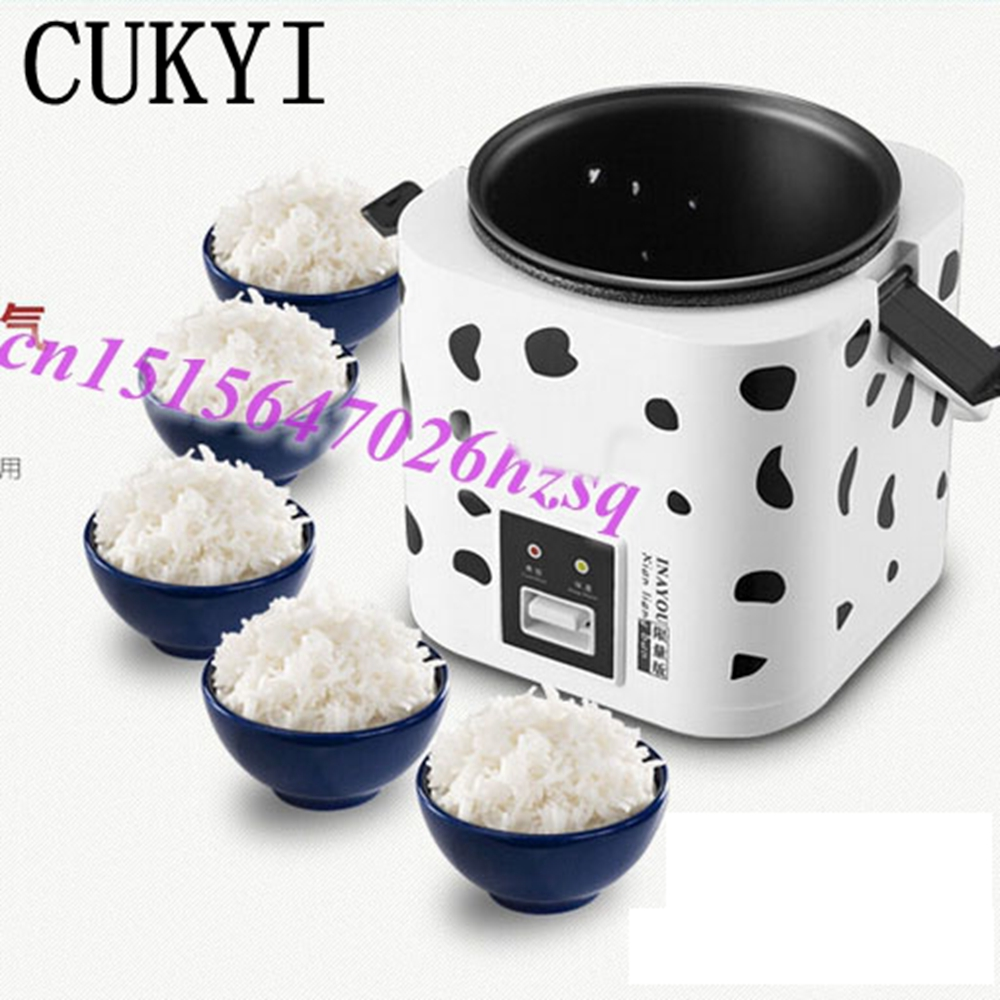 CUKYI Mini rice cooker pot 1 to 2 people multifuncation kitchen tools cukyi stainless steel electric slow cooker plug ceramic cooker slow pot porridge pot stew pot saucepan soup 2 5 quart silver