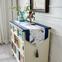 Cotton and linen Chinese style tea table cloth shoes cabinet TV cabinet cover cloth home decorations table runner