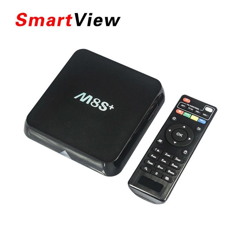 [Véritable] M8S Plus Android 5.1 TV Box Amlogic S812 2.4G & 5G Wifi m8s + 2 GB/8 GB H.265 Bluetooth 4.0 4 k smart tv box Pk m8s pro