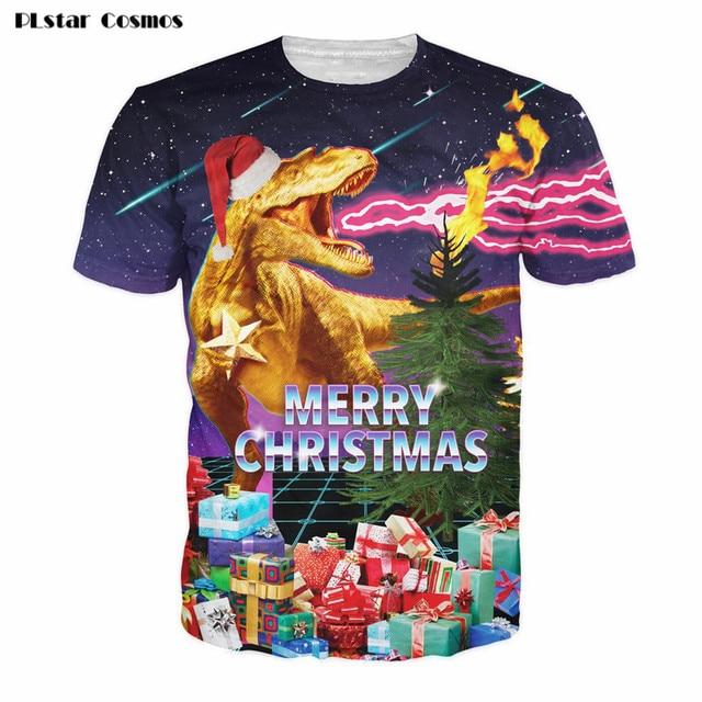 christmas t shirt dinosaur holiday cheer 3d print merry christmas galaxy space t shirt tees