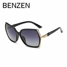 BENZEN Rhinestone Polarized Sunglasses Women  Female Sun Glasses For Driving  Ladies Shades  Luxury Accessories With Case 6180