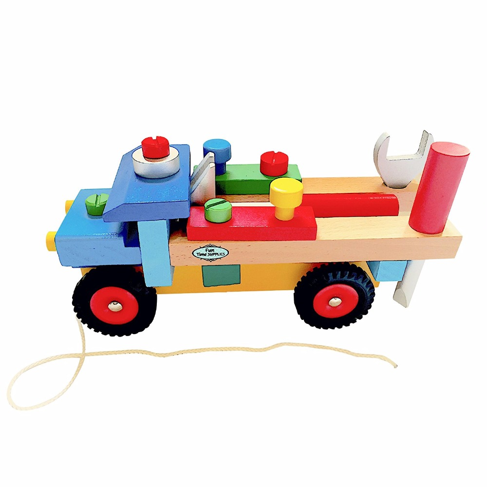 brand wooden blocks build n play truck for toddlers fun kids