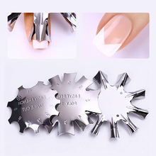 Nail Art French manicure model steel plate Crystal nail work stainless template Manicure Tools