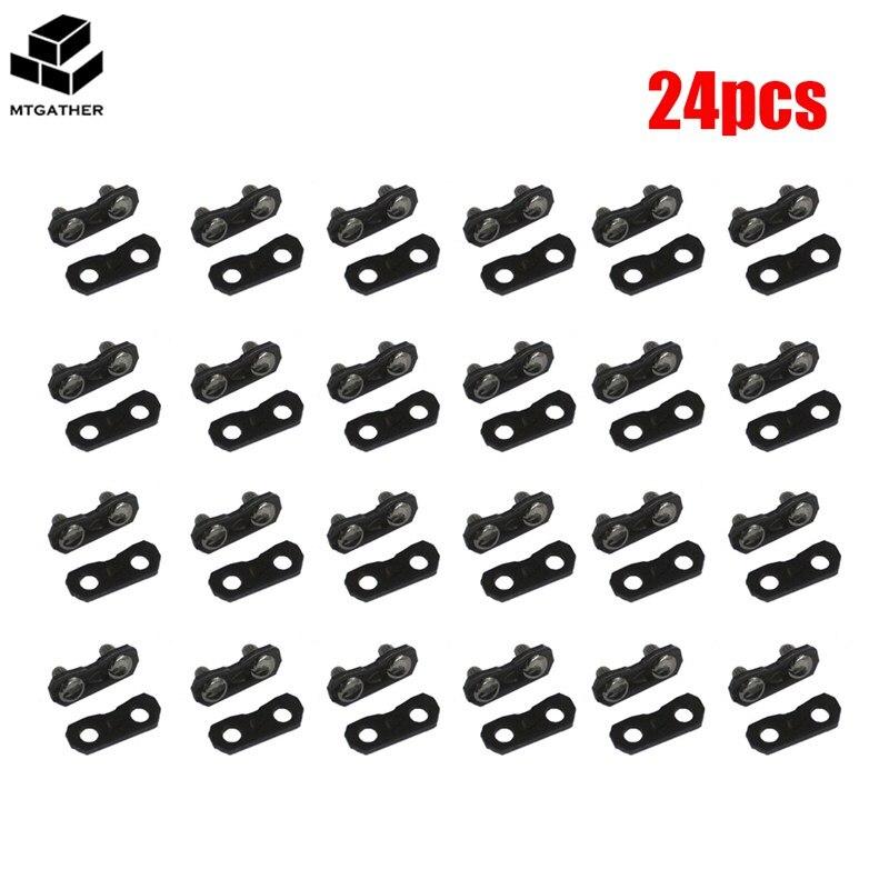 Vornehm Mtgather 24 Sätze X 325 Zoll Kettensäge Kette Reparatur Kits 050 058 Master Link Kabelbinder Hardware