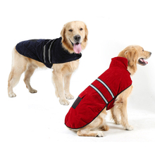 Pet Clothes Reflective Suede Dog Clothes for Large Dogs Costume Outdoor Golden Retriever Labrador Coat Jacket Clothing Sportwear the labrador retriever