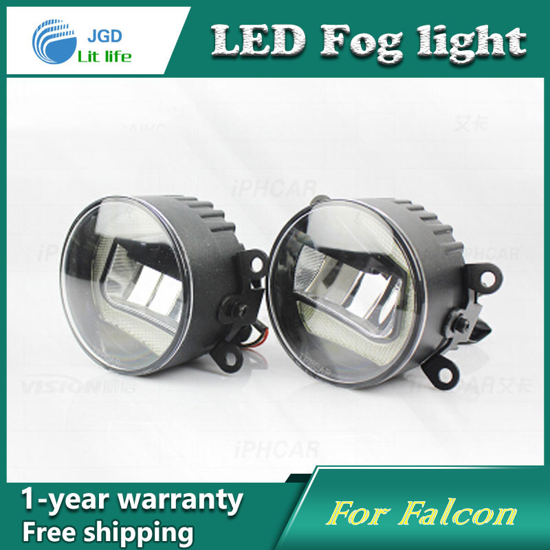 Super White LED Daytime Running Lights case For Ford Falcon Drl Light Bar Parking Car Fog Lights 12V DC Head Lamp high quality 12v 6000k led drl daytime running light case for ford ecosport 2013 2014 fog lamp frame fog light super white