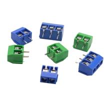 5/10 шт./партия KF301-5.0-2P KF301-3P KF301-4P шаг 5,0 мм прямой контакт Американская классификация проводов 2р 3P 4P винт клеммный блок печатных плат разъем