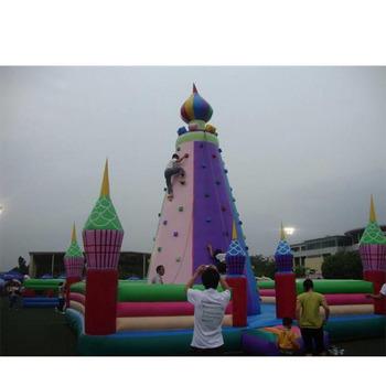 Nowy projekt w połączeniu dmuchane ścianka wspinaczkowa z trampoliną dla dzieci tanie i dobre opinie XZ-CW-033 Dziecko New Design Combined inflatable climbing wall with Trampoline for kids 0 5mmPVC 110-220v Large Outdoor Inflatable Recreation