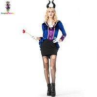 Halloween Women Fancy Dresses Hellfire Darling Devil Costume Sexy Carnival Costumes Bunny Uniforms Size M XL