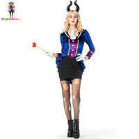 Halloween Women Fancy Dresses Hellfire Darling Devil Costume Sexy Carnival Costumes Bunny Uniforms Size M XL