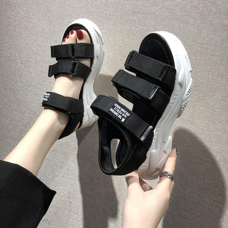 TUINANLE Gladiator Platform Women's Sandals 2020 Summer Fashion Women Chunky Beach Sandal Denim Comfortable Sandalias Mujer