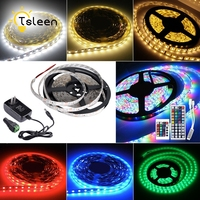 TSLEEN Led Strip Light RGB Waterproof Flexible LED Light Led Strip 12V SMD 5050 3528 RGB