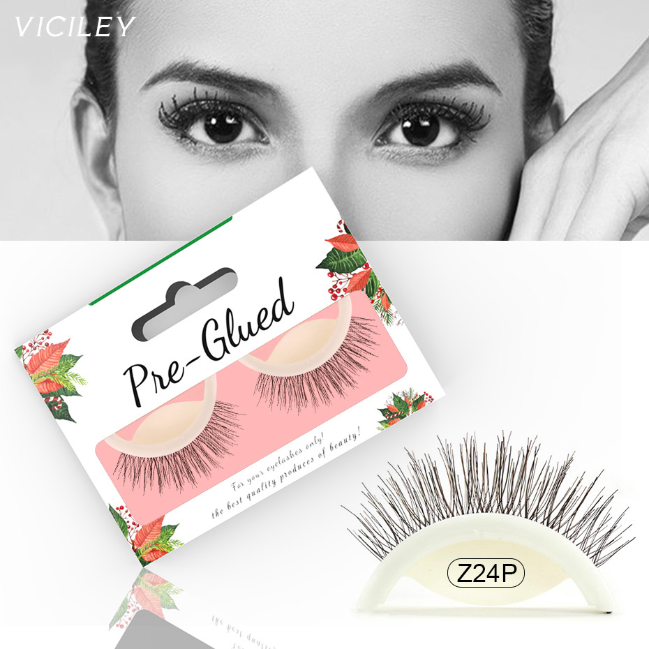 66779935c14 Detail Feedback Questions about VICILEY New 1 Pair Easy Wear Self Adhesive  Lashes Latest Natural Long False Eyelashes 3D Mink Fake Lashes 2018 Makeup  Z24P ...